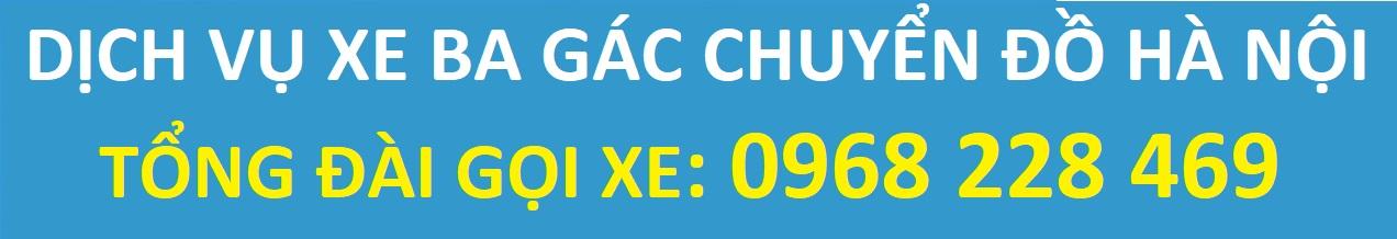 Thuê Xe Ba Gác Chở Hàng, Chuyển Đồ tại Hà Nội